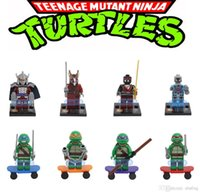Wholesale 8pcs New Ninja TURTLES High Quality Building Bricks Blocks Sets Figures Minifigures Learning Toys Children Christmas Gifts