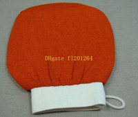 Wholesale 300pcs Fast shipping colors Wash Towel Hammam scrub mitt magic peeling glove exfoliating bath glove
