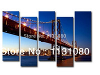 art san - USA San Francisco Golden Gate Bridge photo pictures framed home decoration wall art oil painting for living room