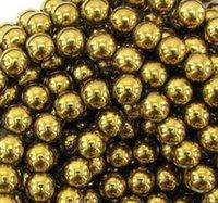 Wholesale fashion New mm Good Gold Hematite Loose ball Beads Shamballa Findings Fit DIY Bracelet Bead for bracelet hotsale DIY Findings Jewelry hot