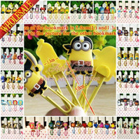 Wholesale DHL OR EMS Minions Despicable Me Avengers Inside Out Batman PVC Paper Clips Holder Novelty Cartoon Bookmarks Party Gifts