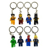 baby keychain - movie Super Hero Avenger Keychain Kid Baby Toy Mini Figure Building Blocks Sets Model Toys Minifigures Brick