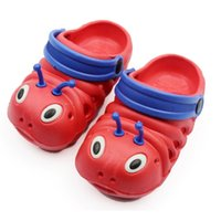 baby slippers soft - Cute Caterpillar Children Beach Shoes Kids Slippers Baby Boys Girls Antislip Cartoon Cool Slipp Home shoes