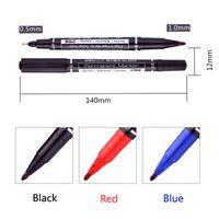 Wholesale 3 Color Fine Dual Heads Marker Pens Thin Nib Crude Nib Good Waterproof Ink Portable Permanent Copic