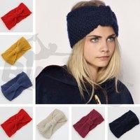 asian winter fashion - Hot Sale Women s Fashion Wool Crochet Knitting Headband Bowknot Hairband Flower Winter Ear Warmer Z84