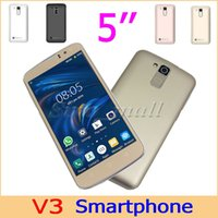 Cheap New 5'' SC6820 V3 Smart Phone Dual SIM Camera WIFI H-Mobile Phone 854*480 px GSM Unlocked Phone With Retail Box