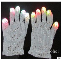 battery mittens - Flashing Finger Lighting Mitten LED Colorful Flash Light Glow Gloves Colors Light Show and Multi Color LED Light Up Shoelaces Battery Pow