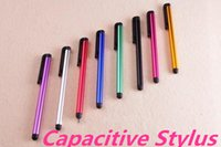 Wholesale Capacitive Stylus Pen Candy Color Mini Stylus Touch Screen Pen For Capacitance Screen Iphone plus Ipad SUMSANG S7edge