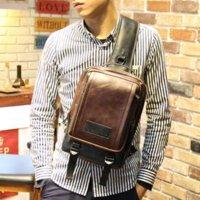 Wholesale Hot Sale New arrived Plaid men shoulder bags Fashion men messenger bag Vintage men bussiness travel bag Men chest bag