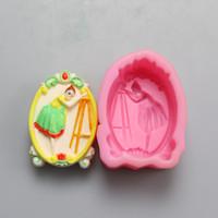 ballet sculptures - Ballet girl handmade soap gel mold soap mold salt sculpture DIY soft silicone mold food grade silicone