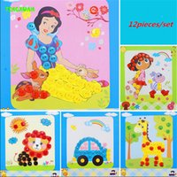 Wholesale 12 cm Button Craft Painting Child Handmade DIY Stickers Material kit