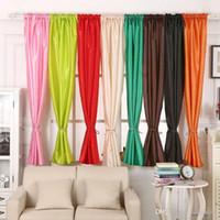 Wholesale 1Pc Valances Colors Floral Tulle Voile Door Window Curtain Drape Panel Sheer Curtains E00636 FASH