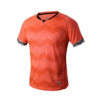 Wholesale New Men short sleeve orange T shirts Breathable quick dry loose Jersey soccer Gym clothing Sportswear football team jersey Running