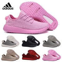 Cheap Adidas Originals 2016 NEW young girl heart lovely pink Yeezy Boost 350 Pirate Black pink Yeezy Boost 350 Quility woman shoes Right Version