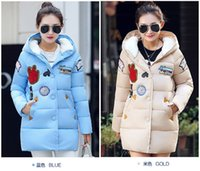 Wholesale winter duck down jacket women long coat parkas thickening Female Warm Clothes Rabbit fur collar High Quality