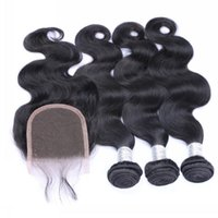 Wholesale Bundles with Closures Lace Closure with Bundles Human Hair Weft Extensions A Brazilian Peruvian Indian Malaysian Hair Body Wave
