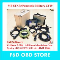 Wholesale TOP Quality Mb star c4 Vediamo HDD Panasonic Military Laptop CF19 MB Star SD Connect c4 Wifi Diagnostic Tool DHL free ship