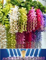Искусственный плющ цветы Шелковый цветок Вистерия лоза цветок Ротанг для свадебных украшений Букет центральные части Garland Home орнамент MYY