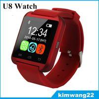 Wholesale U8 Bluetooth Smart Wrist Watch U Watches Without Altimete Smartwatch Wristwatch For iPhone Samsung HTC Sony Cell Phone