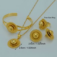 Wholesale Ethiopian Jewelry sets Ethiopians Traditional Festivals k Gold Plated Eritrea Ethiopia National Wedding Jewelry Gifts