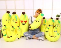 banana video - 45 cm New Cute Emoji Pillow Banana Pillow Emoticon Cushion PP Cotton Plush Toys Home Decorative Pillows Gift