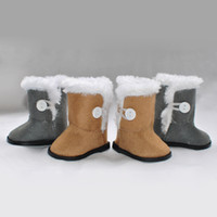 Wholesale By DHL OEM Lowest Price18 quot INCH Plush Boots for DOLL SHOES AMERICAN GIRL Free Drop Shipping