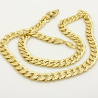 Wholesale Real K Yellow Gold Filled Patterned Curb Chain Link For Women Men