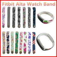 al por mayor ver lazos de las cintas-Fitbit Alta muñeca colorida Correa de repuesto Wearables venda de la correa de silicona para el Fitbit Alta Watch (n perseguidor) VS Milanese bucle de la correa DZ09