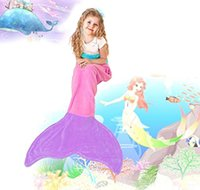 bedding for teens - Kids Mermaid Tail Sleeping Bag Cozy Soft Blanket Lap Throw Bed Wrap for Kids and Teens cm color KKA317