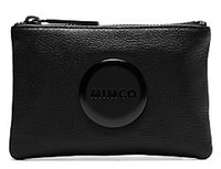 Wholesale FREESHIPPING MIMCO LOVELY BLK MAT BLK SMALL MIM POUCH COIN POUCH PHONE POUCH TOP QUAILITY