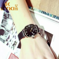 eyki - 2016 Men Square Quartz Watch Leather Belt Watches EYKI Casual Wristwatch Round Military Watch Male Simple Business montre femme