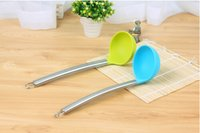 Wholesale Silicone spoon non stick cookware Hot pot spoon scoop shovel handle mini spoon kitchen tools