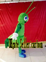 ants pictures - Real Pictures Deluxe the Green ants mascot costume Adult Size Suit Christmas fancy dress factory direct