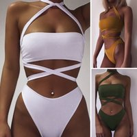Wholesale New Fashion Women s Girl s Sexy Bandage Bikini Set Swimwear Swimsuit Bra Bustier Push up Pattern EB396