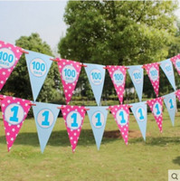 banner canvas - Pennants Korean Style Banners And Pennants Birthday Party Cartoon Coated Paper No Canvas Celebration Decorations Festive Holiday Essential