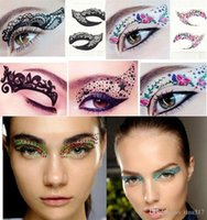 Wholesale 120Pairs Temporary Tattoo Stickers Instant Eye Shadow Sticker Colourful Body Art Party Eye Rock