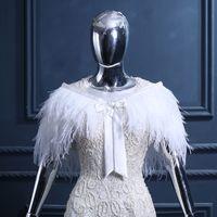 beautiful shrugs - Elegant Ostrich Feathers Fur Boleros Beautiful WHite Wedding Warps JAcket Bridal Bolero Shrugs For Weddings Bolero Jacket Wedding Dress