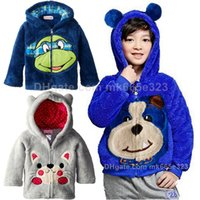 bears hoodie - Dinosaur Ninja Turtles Bear children Clothing Boys Girls Clothes Fleece Animal Zip Front Jacket Kids Thick Warm Hoodies Baby Coats