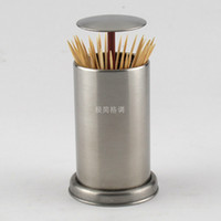 Wholesale Creative Automatic Stainless Steel Toothpick Holders Toothpick Stand Toothpick Box