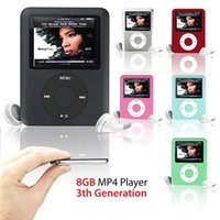 Wholesale MP3 Player GB quot LCD Media Video radio FM th Generation Colors A57