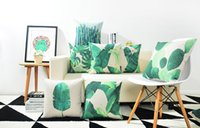 bananas plants - gift watercolor jungle tropical plant monstera banana leaf leaves cactus pattern linen Cushion Cover home decor pillow Case