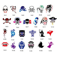 adhesive backed stencils - 100 Cartoon Designs Self Adhesive Body Art Temporary Tattoo Airbrush Stencils Template Books of Butterfly and Animals Booklet