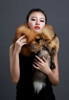 animal head scarf - real fur with tail head supper thick whole fox scarf red Fox fur shawl collar dyeing fox fur winter long keep warm