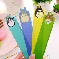 Wholesale New Cute Japan cartoon Totoro design PVC ruler cm zakka DIY tools Stationery