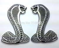 atuo parts - 50pcs Cobra D Metal Car Sticker with Sticky Pad Car Accessories Emblem Metal Decal Atuo Badge Motocycle Decoration Parts