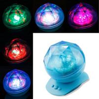 cheap aurora star led projector diamond lighting lamp color changing mood light usb light lamp with cheap mood lighting