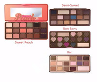 Wholesale HOT NEW Sweet Peach color Eye Shadow Makeup Eyeshadow Palette Chocolate Bar Semi Sweet Bon Bons Palette GIFT dhl