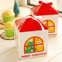 Wholesale Small house Merry Christmas Favors Boxes for your Christmas gift
