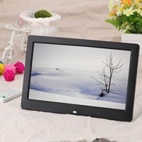 Wholesale Hot Sale quot High Resolution HD Wide Screen Digital Photo Picture Frame Alarm Clock MP3 MP4 Movie Player with Remote Control