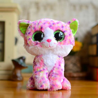 big cat collection - Original TY Collection Beanie Boos Plush Kids Toys Big Eyes Styles Soft Stuffed Sophie Pink Cat Lovely Gifts Kawaii Animal Dolls